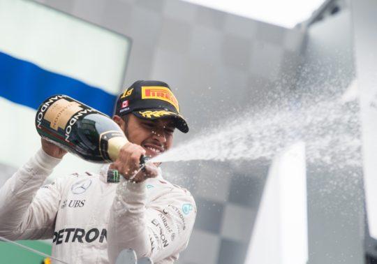 June 9-12, 2016: Canadian Grand Prix. Lewis Hamilton (GBR), Mercedes celebrates winning the Canadian Grand Prix